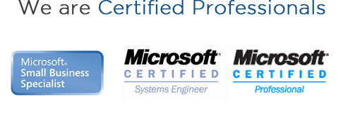 We are Certified Professionals